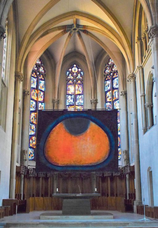 """Bildinstallation """"Hommage to Giovanni Bellini"""", in der St. Johanneskirche im März/April 2020 in Tübingen"""