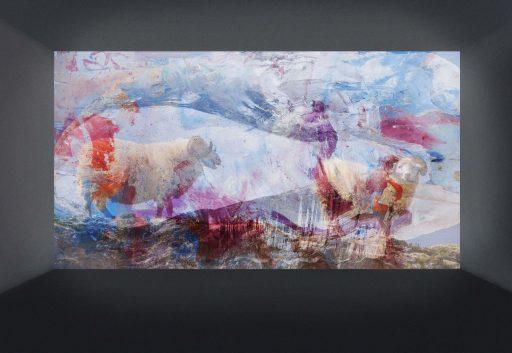"""""""Bilder im Raum 2"""", 2019, Digitaldruck auf Forex, 34 x 49 cm"""