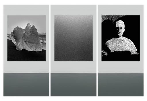 """a visit to an imaginary museum (avim) 3"", 2019, Digitaldruck auf Polystyrol, 3 x 200 x 100 cm"
