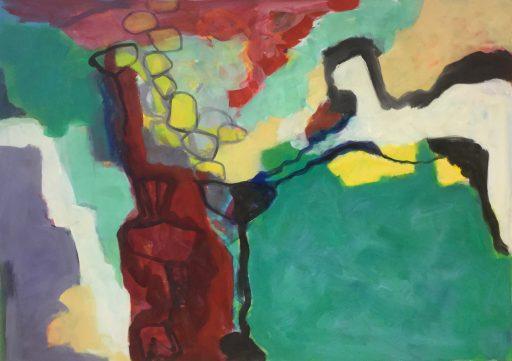 """""""Verbergen und Enthüllen"""", 2019, Acryl auf Leinwand, 100 x 140 cm"""