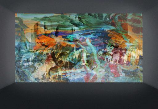 """""""Bilder im Raum 4"""", 2019, Digitaldruck auf Forex, 34 x 49 cm"""