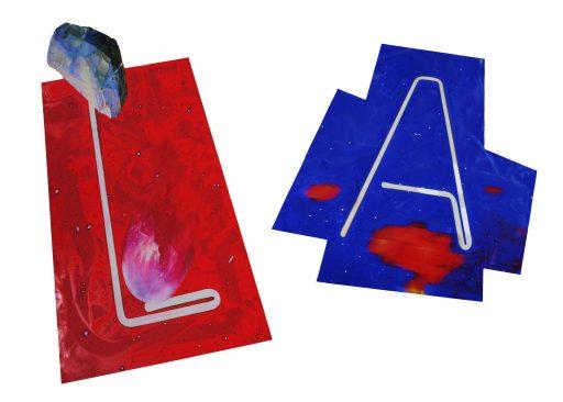 """""""L.A."""", 2019, Digitaldruck und Malerei auf Forex, ca. 60 x 85 cm"""