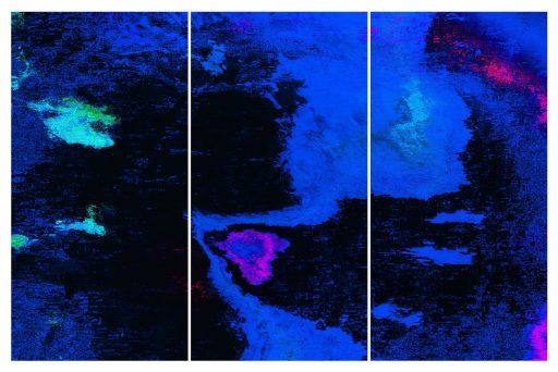 """mirror images 78"", 2019, Digitaldruck auf Polystyrol, 3 x 200 x 100 cm"