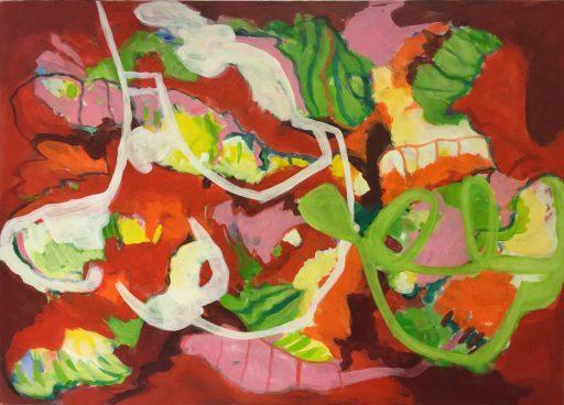 """""""mitten im Leben"""", 2019., Acryl auf Leinwand, 100 x 140 cm"""