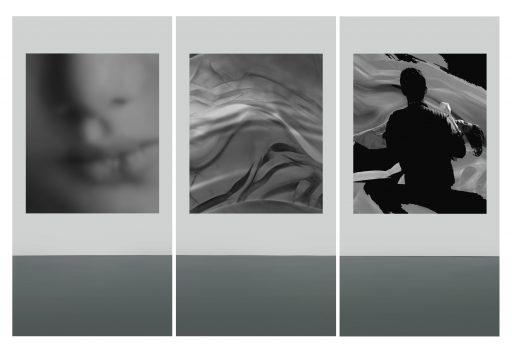 """""""avim 55"""", 2019, Digitaldruck auf Polystyrol, 3 x 200 x 100 cm"""