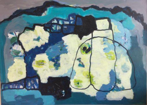 """""""Rettungsschirm"""", 2020, Acryl auf Leinwand 100  x 140 cm"""