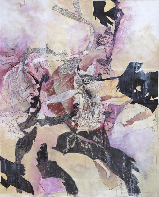 """""""Wasserwelt"""", 2020, Collage auf Papier, 94 x 114 cm"""