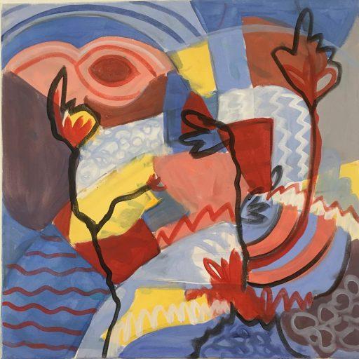 """Maskenpflicht"", 2020, Acryl auf Leinwand, 60 x 60 cm"