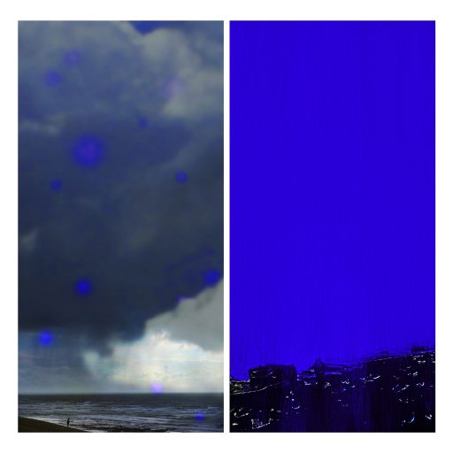 """mirror images 104"", 2019, Digitaldruck auf Polystyrol, 2 x 200 x 100 cm"