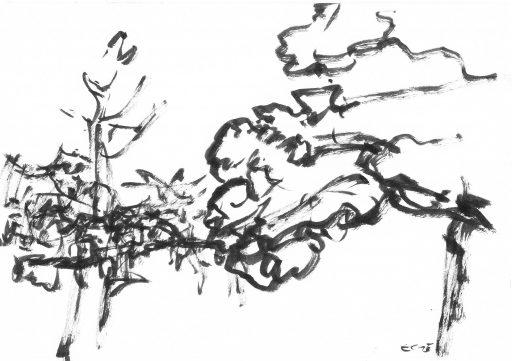 """""""Heutenburg 10"""", 2015, Tusche auf Papier, 14,8 x 20 cm"""