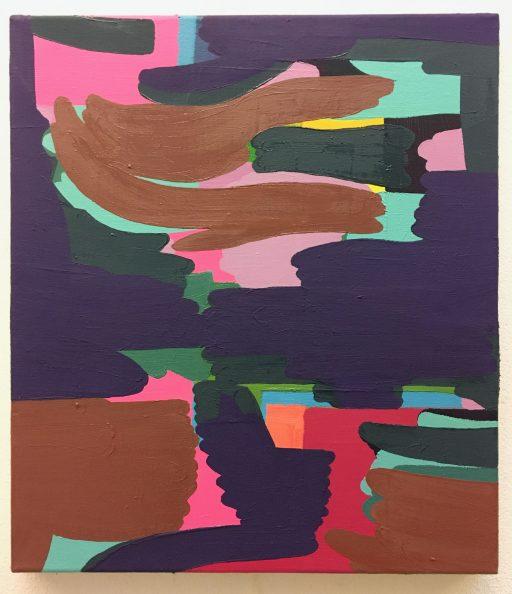 """""""Wavey Wave"""", 2020, Öl auf Leinwand, 49 x.42 cm"""