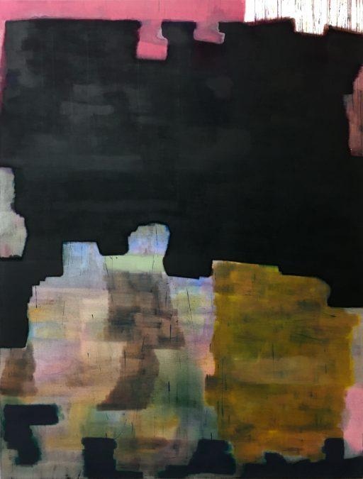 """""""Cola Verschüttung auf Tischdecke"""", 2020, Öl auf Leinwand, 190 x 146 cm"""
