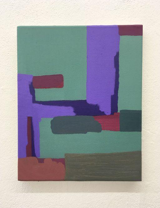 """""""Für meine Zimmerpflanze"""", 2020, Öl auf Leinwand, 37 x 28 cm"""
