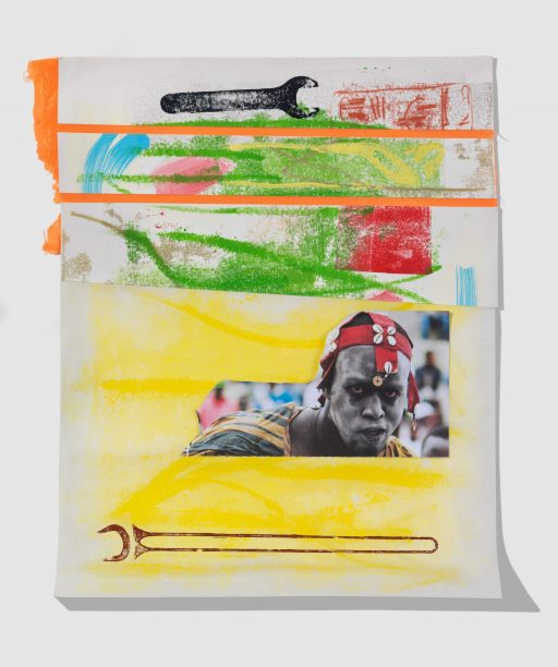 """tomorrow is my turn"", 2018, Collage auf Papier, 38 x 30 cm"