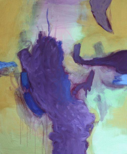 """""""Dünnhäutig"""", 2020, Acryl auf Leinen, 120 x 100 cm"""
