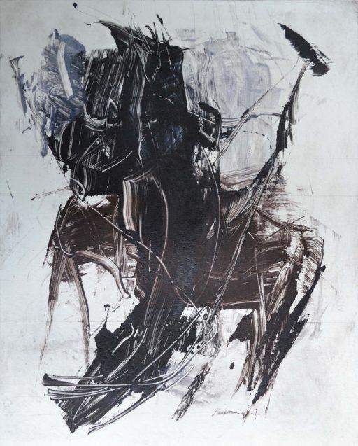 """""""Monotyp 8"""", Druckfarbe auf Papier, 40 x 30 cm"""