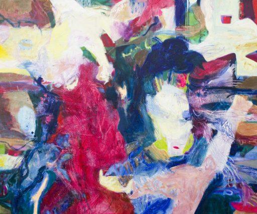 """""""RGB"""", 2019, Öl auf Leinen, 150 x 180 cm"""