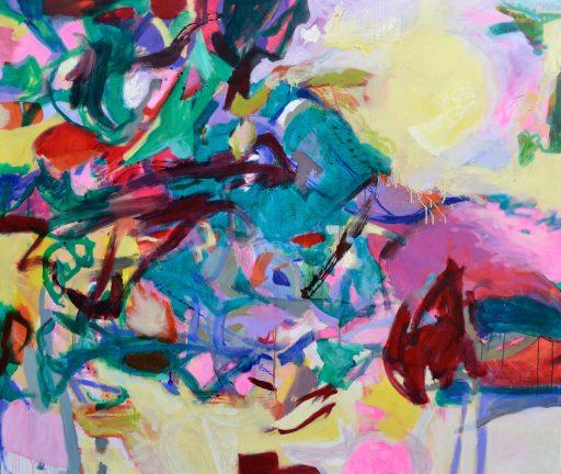 """Sonnenaufgang"", 2015, Öl auf Nessel, 145 x 165 cm"