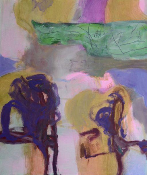 """""""Tanz den Corona"""", 2020, Acryl auf Leinen, 120 x 100 cm"""